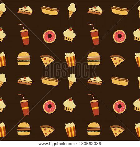 Seamless Fastfood Restaurant Theme Pattern