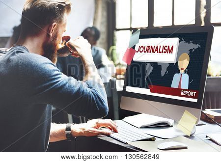 Journalism Article Interview News Publish Report Concept