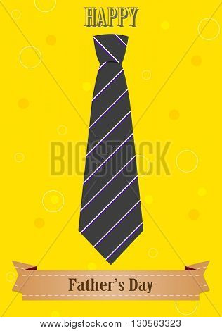 Father's Day abstract retro vintage background with tie and ribbon