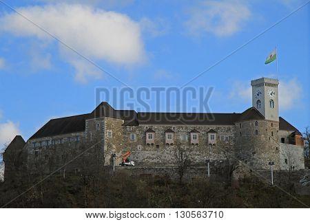 Lijubljana Castle In The Capital Of Slovenia