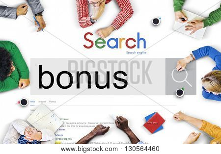 Bonus Extra Benefit Incentive Reward Money Finance Concept
