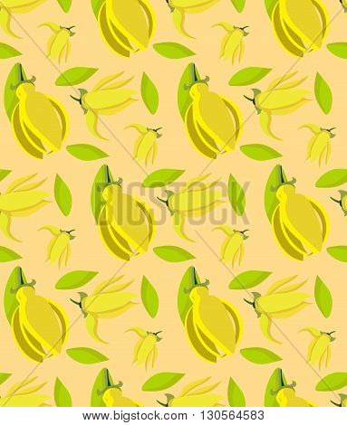 seamless pattern of ylang ylang flowers/ concept of aromatherapy