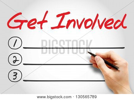 Get Involved Blank List