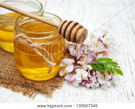 Honey With Acacia Blossoms