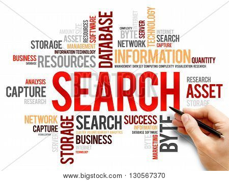 Search word cloud business concept, presentation background