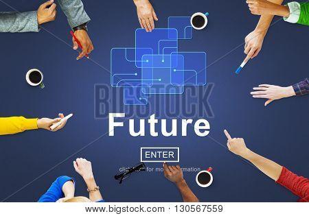 Future Technology Internet Online Concept