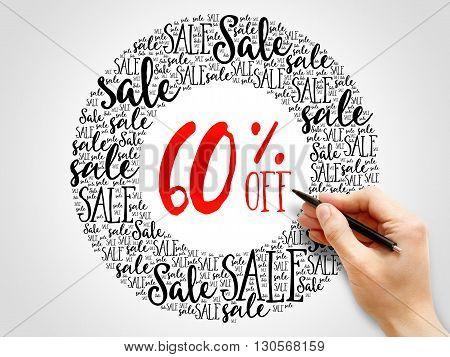 60% Off Sale Words Cloud