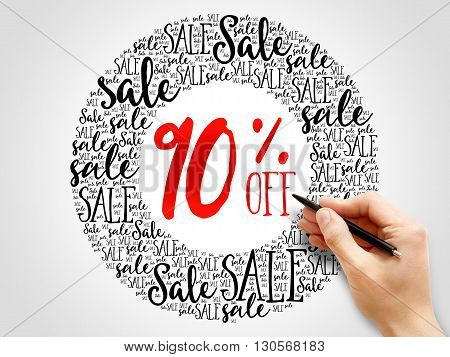 90% Off Sale Words Cloud