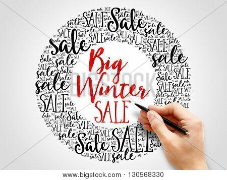 Big Winter Sale Words Cloud