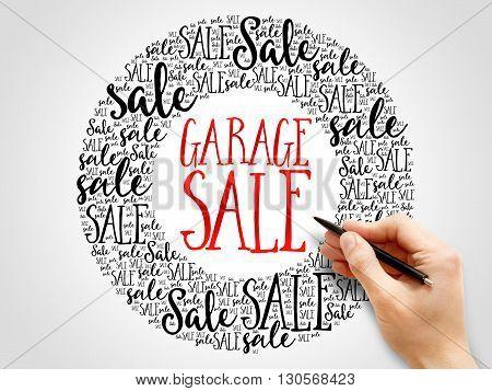 Garage Sale Words Cloud
