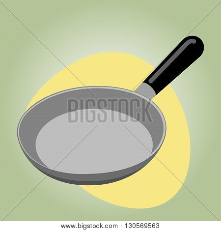 Pan colorful icon. Kitchen Utensils For Frying Food