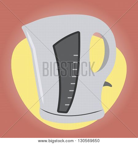 Kettle colorful icon. Electric kettle colorful icon