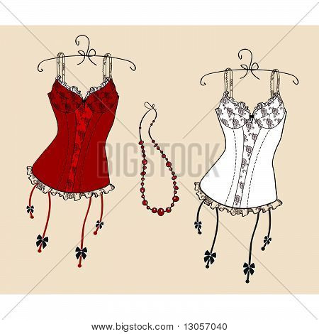 Variety of sexy corsets