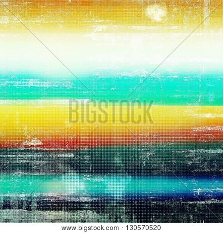 Retro design on grunge background or aged faded texture. With different color patterns: yellow (beige); blue; red (orange); black; white; cyan