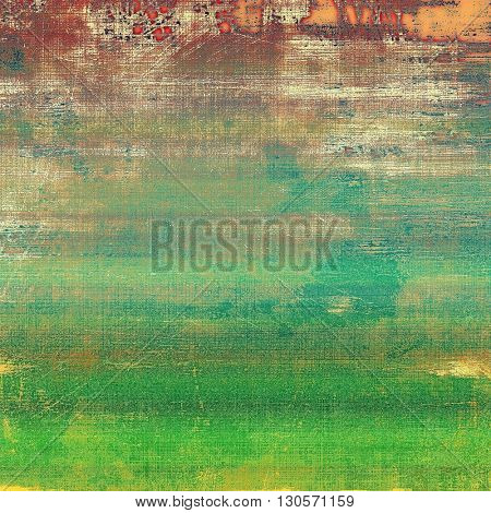 Elegant vintage background, grunge design template. Ancient texture with different color patterns: yellow (beige); brown; green; blue; red (orange)