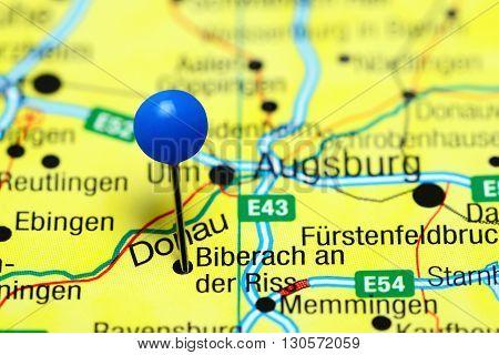 Biberach an der Riss pinned on a map of Germany