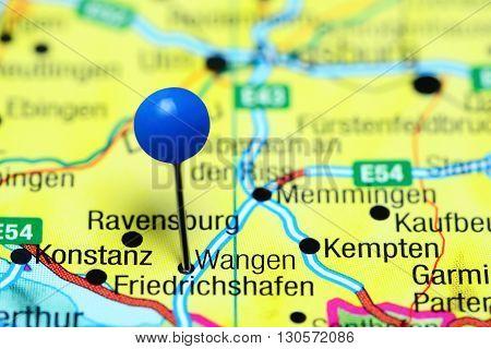 Wangen pinned on a map of Germany