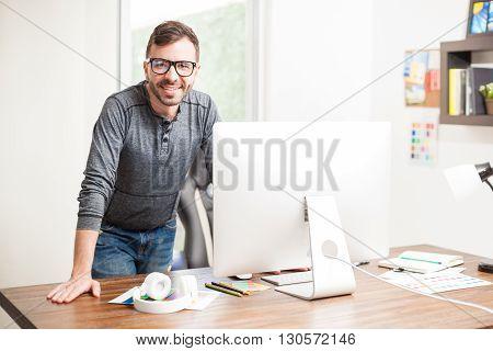 Male Graphic Designer Looking Smart
