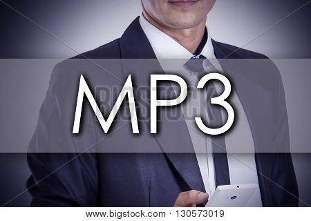 Mp3 - Young Businessman With Text - Business Concept