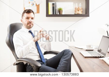Young Attorney Looking Confident At Work