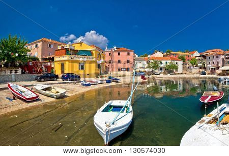 Old mediterranean harbor in Sali village Island of Dugi Otok Croatia