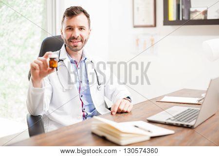 Doctor Recommending Some Medicine