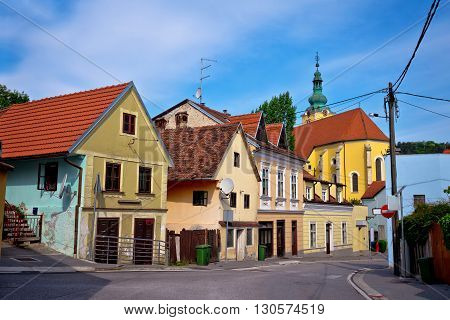 Zown of Samobor colorful old street northern Croatia