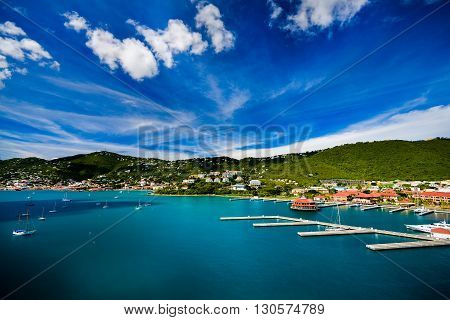 Sunset in St. Thomas from Carnival Cruise