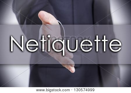 Netiquette - Business Concept With Text