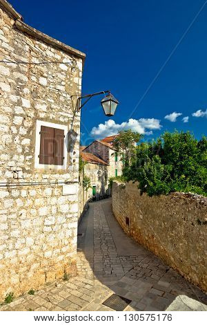 Stone architecture of Stari Grad on Hvar island Dalmatia Croatia