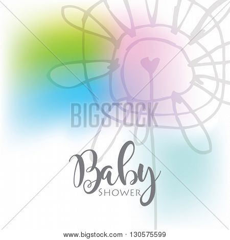 Greeting card - template - freehand drawing