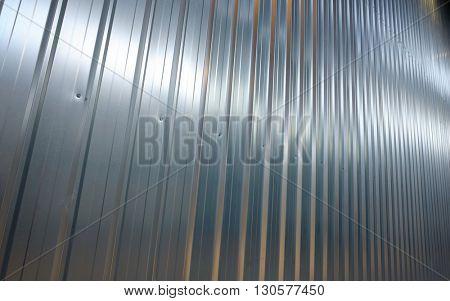 Folded metal zinc sheet in warehouse