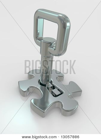 Puzzle And Key