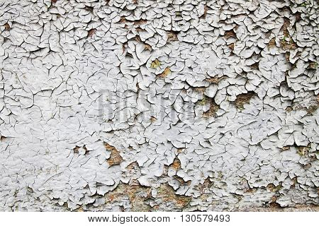 Old Damaged White Wall