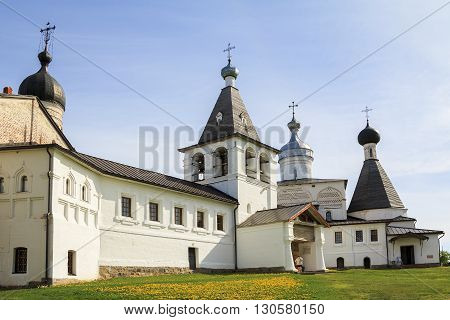 Vologda, Russia - May 28: This is former Ferapontov Belozersky Nativity monastery built in the 15th century and inscribed on the World Heritage list of UNESCO May 28, 2013 in 120 km from Vologda, Russia.