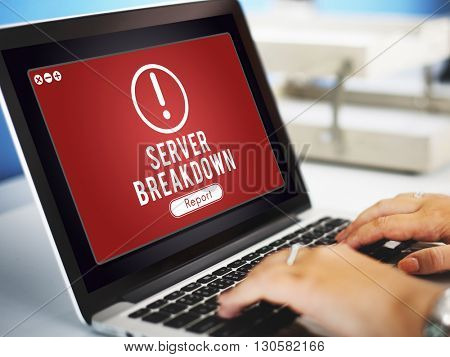 Server Breakdown Network Problem Technology Software Concept