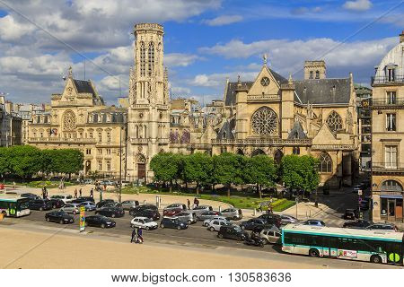 Paris, France - May 12: Church of Saint-Germain l'Auxerrois is a monument to late or