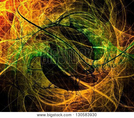 Abstract Yin Yang Concept Background, Beautiful Banner Wallpaper Design Illustration