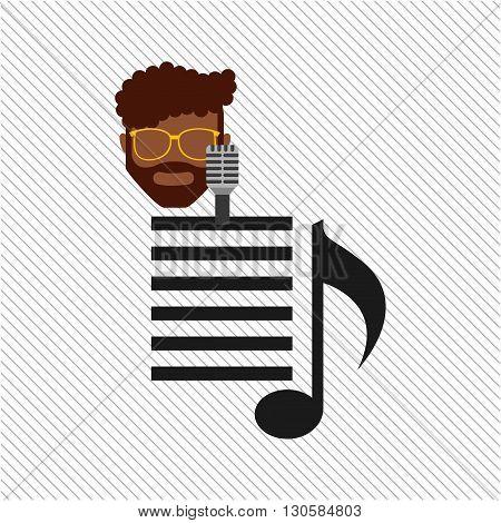 singer isolated design, vector illustration eps10 graphic