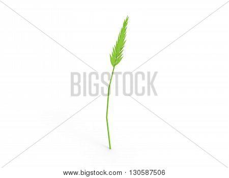 3d illustration of spica. simple to use. low poly style. on white background isolated with shadow. icon for game or web. green colors. eco nature