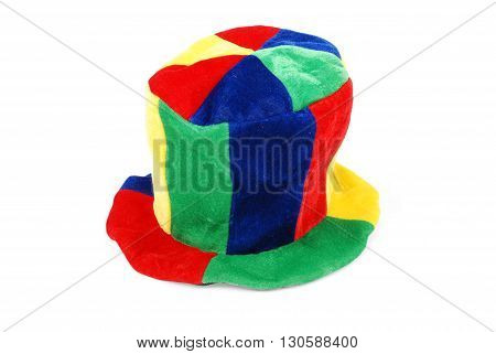 Carnival hat (Clipping path included) white background with soft shadow