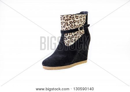 Women's Shoes, Leopard Shoes, Autumn And Winter Boots
