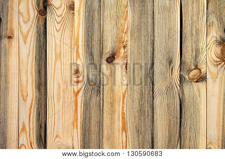 Rustic weathered barn wood background with knots and nail holes.