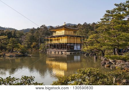 Kinkakuji Temple (Golden Pavilion temple), Kyoto, Japan.