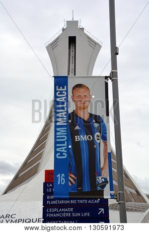 MONTREAL QUEBEC CANADA MAY 15 2016: Calum Mallace (born 10 January 1990) is a Scottish footballer who plays for Montreal Impact in Major League Soccer.