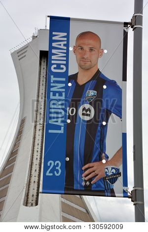 MONTREAL QUEBEC CANADA MAY 15 16: Laurent Franco Ciman is a Belgian professional footballer who plays as a defender for Major League Soccer club Montreal Impact and the Belgium national football team.