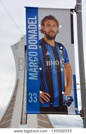MONTREAL QUEBEC CANADA MAY 15 2016: Marco Donadel (born 21 April 1983) is an Italian football midfielder, currently playing for Canadian Side Montreal Impact.