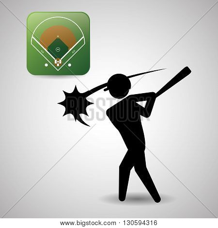 Baseball concept with icon design, vector illustration 10 eps graphic.