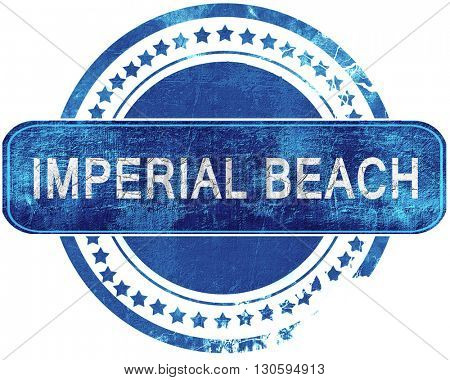 imperial beach grunge blue stamp. Isolated on white.