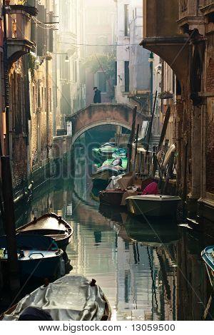 Venetian Scenary With Beatiful Light